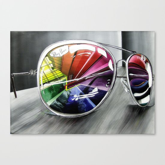 Psychedelic Sunglasses        Canvas Print