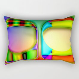 Two colored things ... Rectangular Pillow