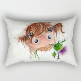 Thistle MacKenzie-McMoo by Fiona Bárcenas Rectangular Pillow