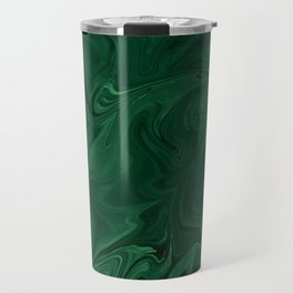 Modern Cotemporary Emerald Green Abstract Travel Mug