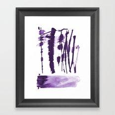 Decorative strokes Framed Art Print