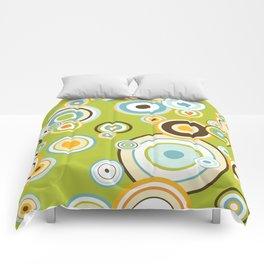 Colorful circle design Comforters