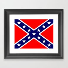 Confederate Third national flag (The Blood Stained Banner) Framed Art Print