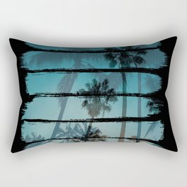 Tropical Brush Strokes Rectangular Pillow