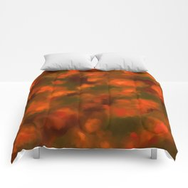 Red, Orange Floral Abstract Comforters