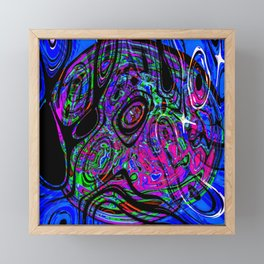 Psychedelic Universe Framed Mini Art Print