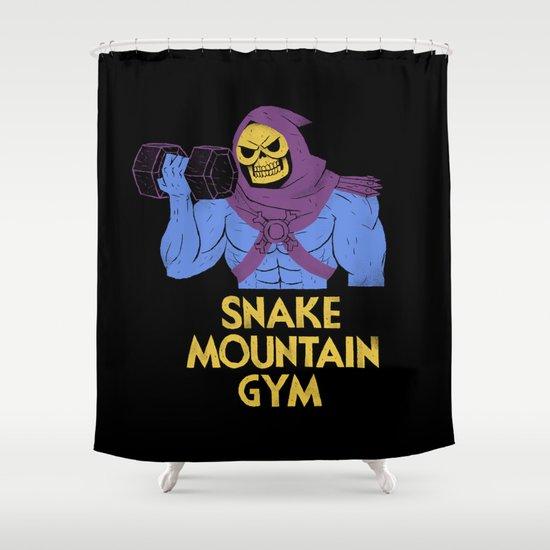 snake mountain gym Shower Curtain