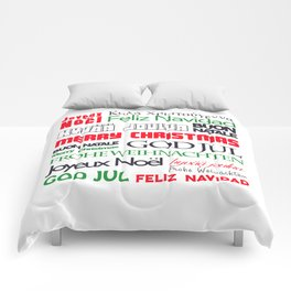 merry christmas in different languages II Comforters