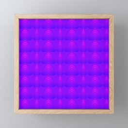 Mother of pearl pattern of purple hearts and stripes on a blueberry background. Framed Mini Art Print
