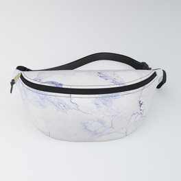Modern abstract navy blue lavender watercolor Fanny Pack