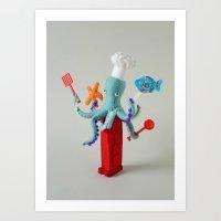 Hiné's Dispensers: Cooking Art Print