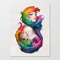 artgerm Canvas Prints featuring Angel of Colors by Artgerm™