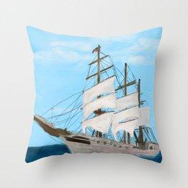 203. Sailboat / Tall Ship Throw Pillow