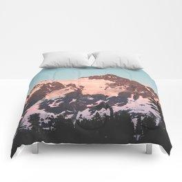 Pink Cascade Mountain Comforters