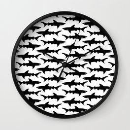 Shark Attack Wall Clock