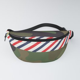 Barber Camo Pattern Fanny Pack