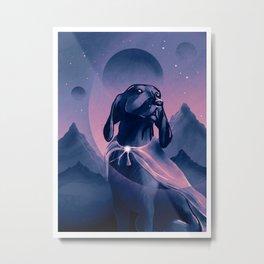 Superdog futuristic illustration Metal Print