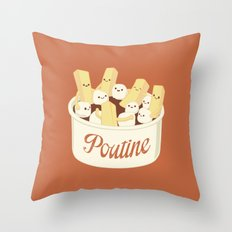 Poutine Throw Pillow