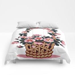 Beautiful Flower Basket Comforters