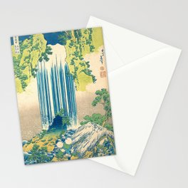 Katsushika Hokusa Yoro Waterfall In Mino Province Stationery Cards