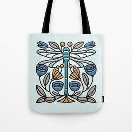 Dragonfly tile Tote Bag