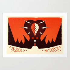 My Heart Began to Pound for Him (by Paul Pants) Art Print