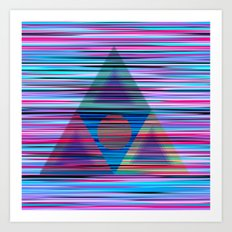 Lines and triangles Art Print
