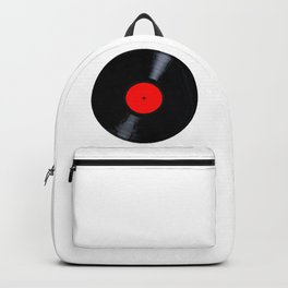 Blank Red Record Label Backpack