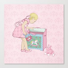 Carousel Rose Canvas Print