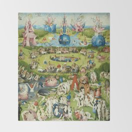 The Garden of Earthly Delights by Hieronymus Bosch Throw Blanket