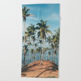 Palm trees 4 Beach Towel