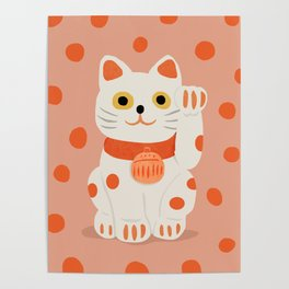 Abstraction_Lucky_Charm_Cat Poster