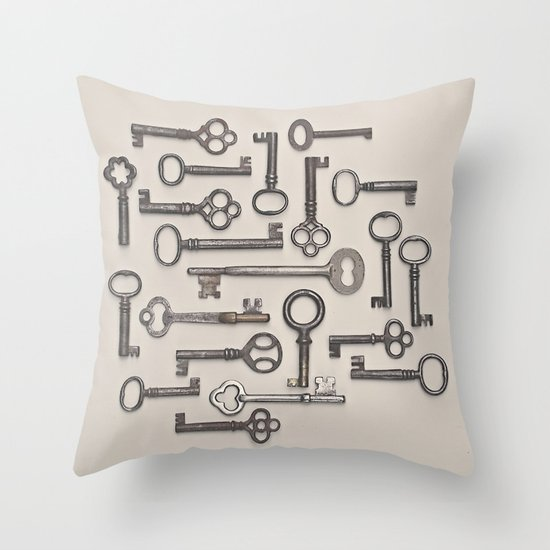 Labyrinth (Grey Version) Throw Pillow