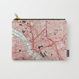 Dallas Texas Map (1995) Carry-All Pouch