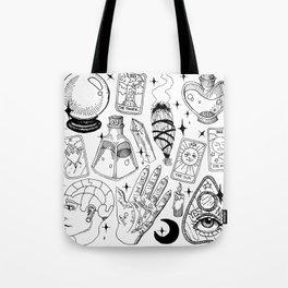 Fortune Teller Starter Pack Black and White Tote Bag