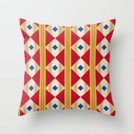Traditional Japanese patter KUGINUKITSUNAGI Throw Pillow