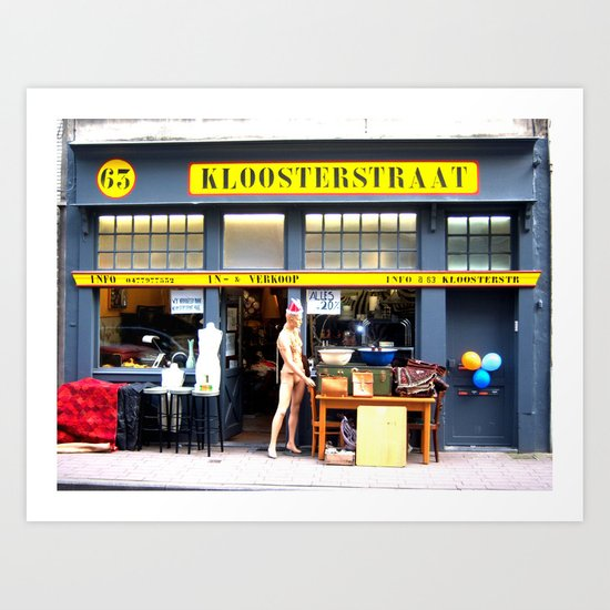 Kloosterstraat Art Print