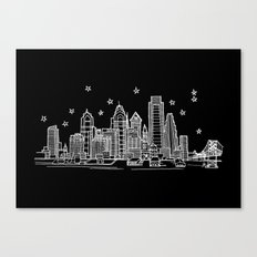 Philadelphia, Pennsylvania City Skyline Canvas Print