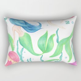 Mermaid Girl Gang Rectangular Pillow