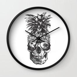 Pineapple Skull Head Wall Clock