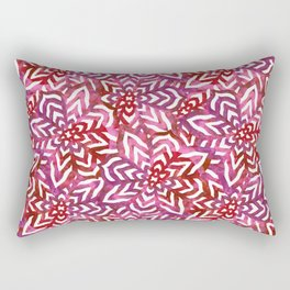 I don't need to improve - Pink and red Rectangular Pillow