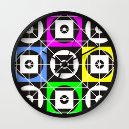 Geometry of sex on the wall tapestry Wall Clock