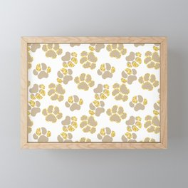 Cute golden paws in pastel colors Framed Mini Art Print