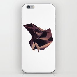 3D purple flying object iPhone Skin