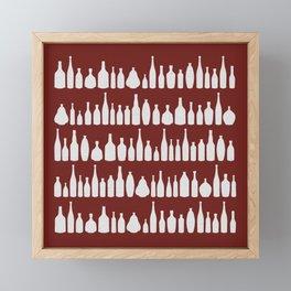 Bottles Red Framed Mini Art Print