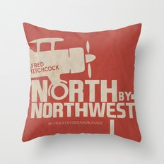 North by Northwest - Alfred Hitchcock Movie Poster Throw Pillow
