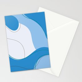 Love Abstraction Blue Stationery Cards