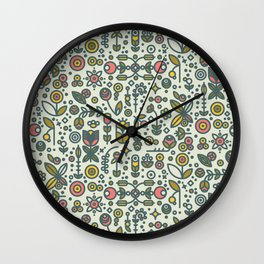 36dot Flower Garden Wall Clock