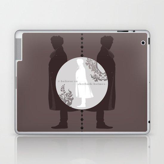 I Believe in Sherlock Holmes Laptop & iPad Skin