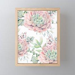 Pink Succulents by Nature Magick Framed Mini Art Print